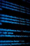 Monitor do computador com código fonte de programação Foto de Stock