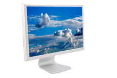 Monitor do computador do LCD Fotografia de Stock Royalty Free