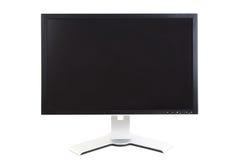 Monitor do computador, tela preta Imagens de Stock Royalty Free