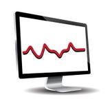 Monitor do diodo emissor de luz contra o fundo branco Imagens de Stock Royalty Free