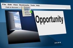 monitor do Internet do HTTP do Web de WWW Fotos de Stock