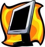 Monitor do LCD Imagem de Stock Royalty Free