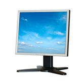 Monitor do LCD do computador isolado Fotografia de Stock Royalty Free