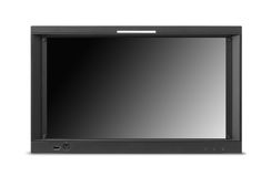 Monitor do lcd do tela panorâmico isolado no branco Foto de Stock Royalty Free