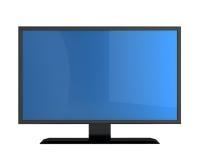 Monitor do plasma com tela vazia Fotos de Stock Royalty Free