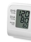 Monitor do tonometer do pulso da pressão sanguínea de Digitas Fotografia de Stock Royalty Free