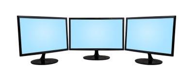 Monitor drei Stockbilder