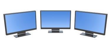 Monitor drie stock afbeeldingen