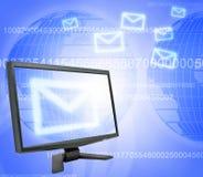 Monitor e correio Imagem de Stock