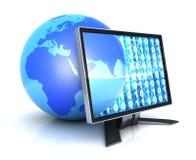 Monitor e terra abstrata Imagens de Stock