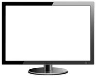 Monitor en blanco Fotografía de archivo libre de regalías