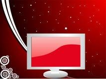 Monitor en curvas Fotografía de archivo