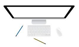 Monitor en toetsenbord Stock Foto's