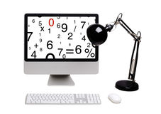 Monitor with figures Stock Photos