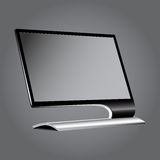 Monitor flat on a gray background vignette.EPS10 Stock Photography
