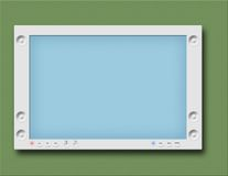 Monitor or flat TV. Tablet Computer or wall TV Stock Photos