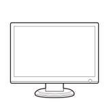 Monitor front line. Illustration vector monitor front. clip-art vector illustration