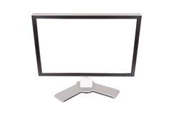 Monitor grande en un fondo blanco Foto de archivo libre de regalías