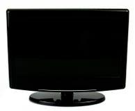 Monitor a grande schermo dell'affissione a cristalli liquidi isolato su bianco Fotografia Stock Libera da Diritti