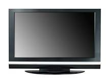 Monitor a grande schermo moderno dell'affissione a cristalli liquidi TV isolato Fotografia Stock