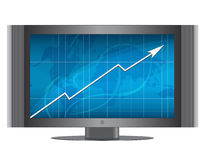 Monitor growth graph Royalty Free Stock Photography