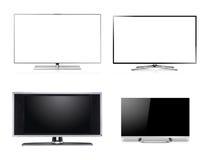 Monitor HDTV LCD mit großem Bildschirm stockfoto