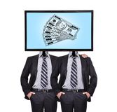 Monitor for a head wits dollar Stock Photo
