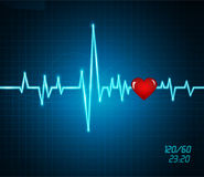 Monitor heartbeat, heart Royalty Free Stock Images