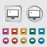 Monitor icon. Royalty Free Stock Photo