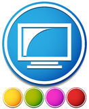 Monitor icon. Screen, display of a computer monitor or televisio Royalty Free Stock Images