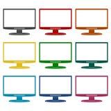 Monitor icon, Vector Eps 10 icons set Stock Photo