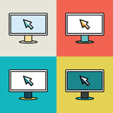 Monitor icon. Royalty Free Stock Images