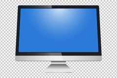 Monitor, imac, LCD isolated on a white background - vector stock.  vector illustration