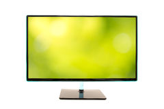 Monitor with an image of a blurred green natural background Royalty Free Stock Photography