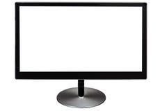 Monitor isolado preto do computador Fotografia de Stock Royalty Free