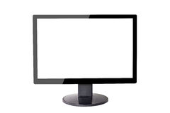 Monitor on isolate background Stock Photos