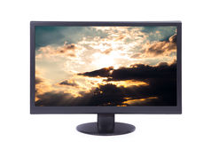 Monitor isolated on white Royalty Free Stock Images