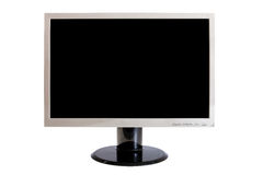 Monitor isolated on white (clipping paths) Stock Photos