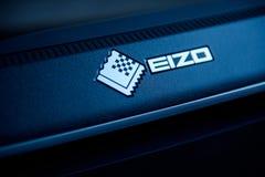 Monitor 4k de Eizo en sitio creativo Foto de archivo