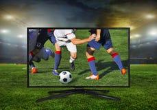 monitor 4k isolato su bianco Immagine Stock Libera da Diritti