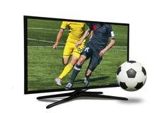 monitor 4k isolato su bianco Fotografia Stock