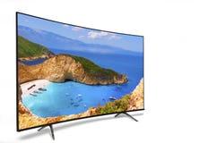monitor 4k isolato su bianco Vista isometrica Fotografia Stock
