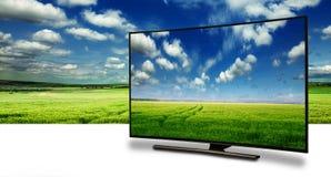 Monitor 4k lokalisiert auf Weiß Stockbild