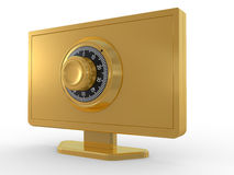 Monitor and key Royalty Free Stock Photo