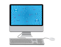 Monitor with keyboard. And mouse Stock Photos