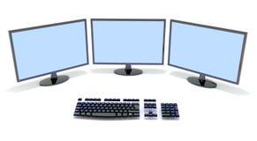 Monitor and keyboard Stock Image