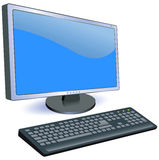 Monitor and keyboard Royalty Free Stock Photo