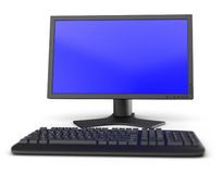 Monitor and keyboard Stock Images