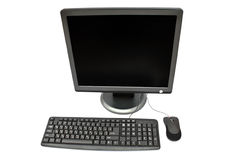 Monitor, keyboard and mouse Stock Photos