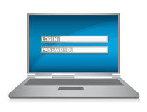 Monitor. laptop computer security illustration Royalty Free Stock Images